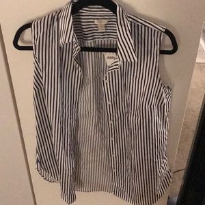 J crew button up sleeveless shirt
